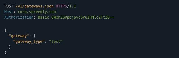 Spreedly API v1 Reference