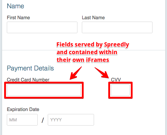 Spreedly iFrame Payment Form - Spreedly Documentation